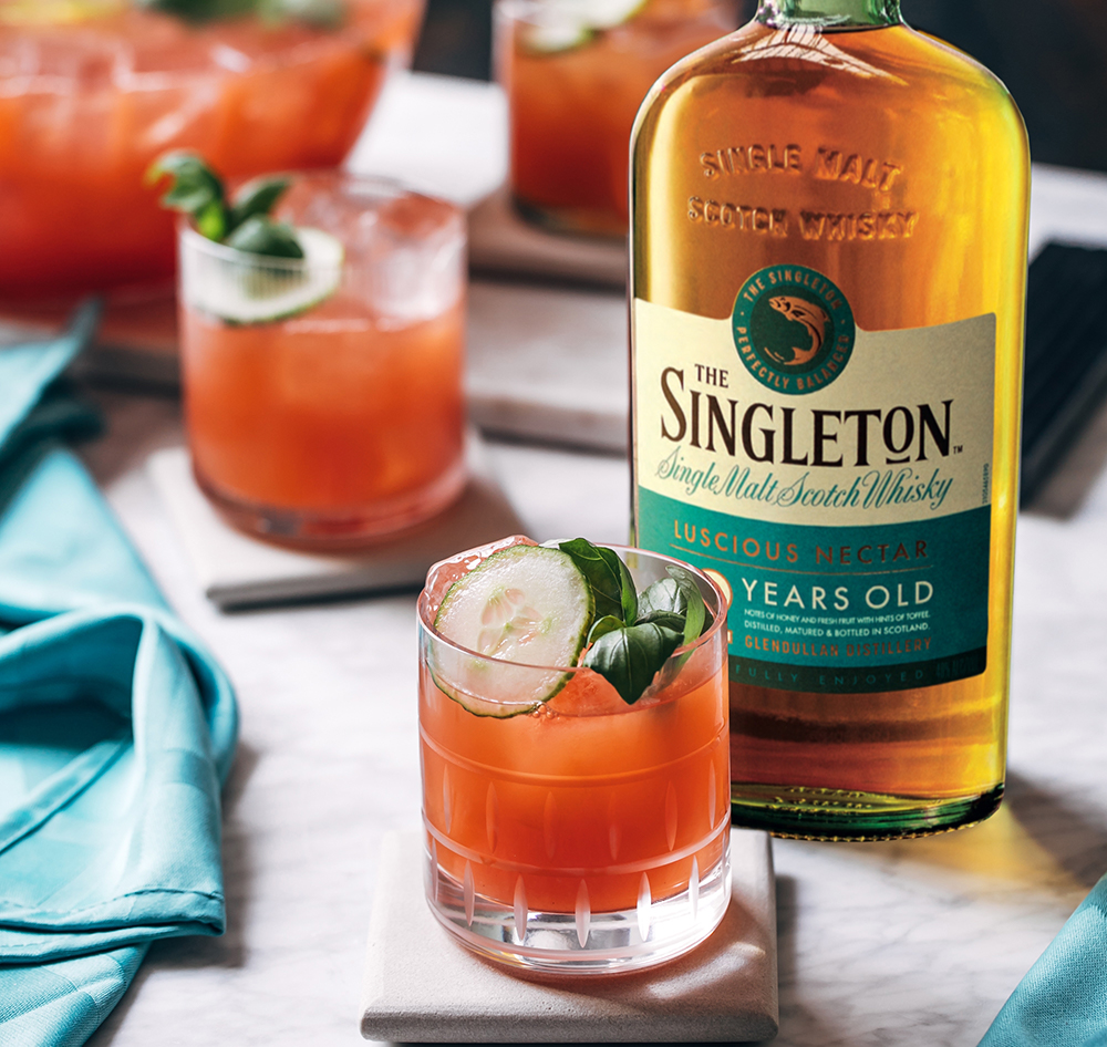 Singleton Old-Fashioned Whisky Cocktail Mix Drink